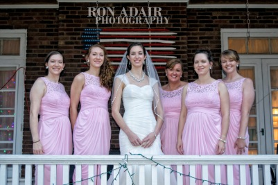 Bridesmaids on Porch