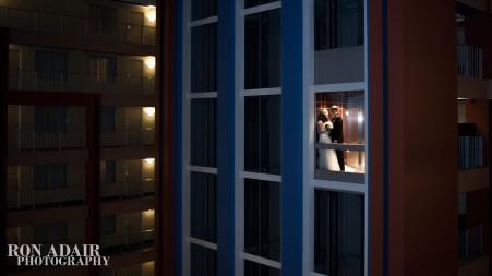 Megan and Drew in elevator