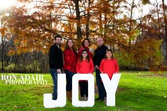 Christmas card photo at Sharon Woods