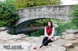 Lilly at Eden Park bridge