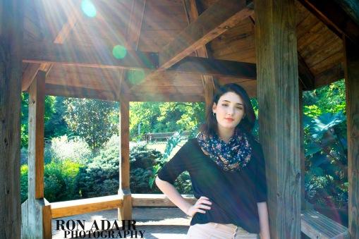 Lilly at Eden Park gazebo
