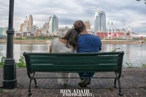 Victoria and Kurt overlooking city