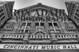 The facade of Cincinnati Music Hall