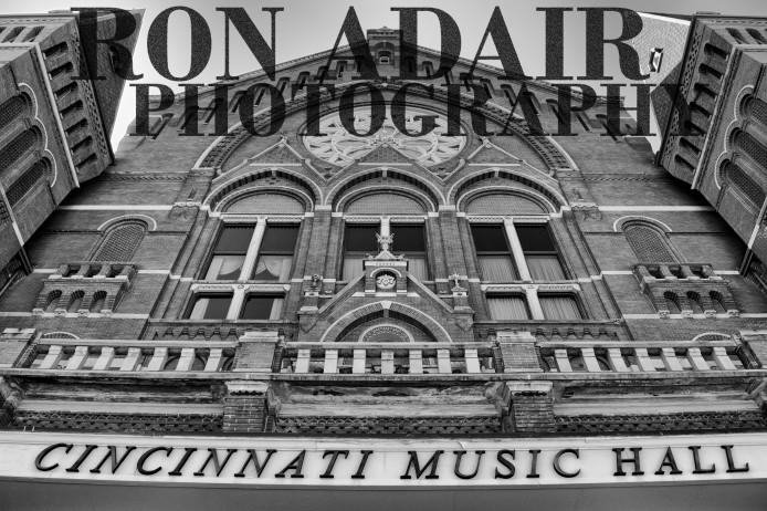 The facade of Cincinnati Music Hall